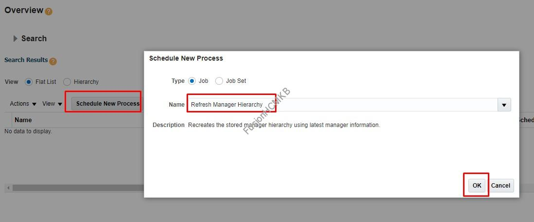 Refresh Manager Hierarchy - Refresh Manager Hierarchy Process in Fusion HCM