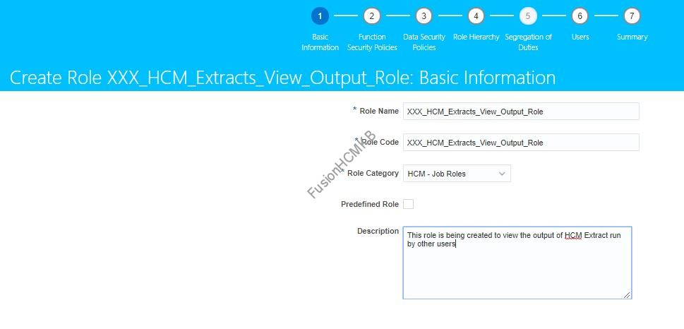Role Creation 1 - How to view the output of HCM Extract run by other users?
