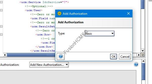 SOAPUI Adding Authentication type Basic - SOAP Services for performing file operations in UCM