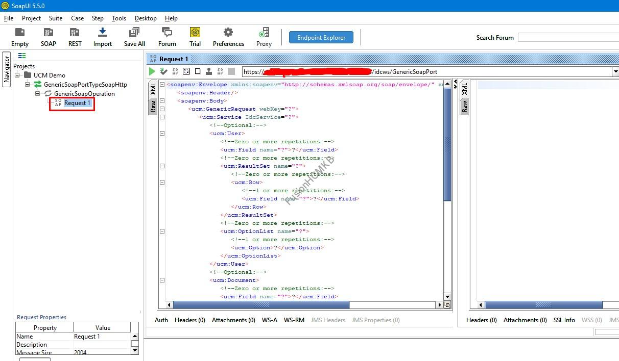 SOAPUI UCM Demo Payload - SOAP Services for performing file operations in UCM