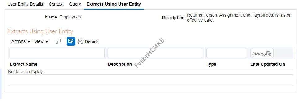 UE Extracts using - How to link/connect the User Entities in HCM Extracts