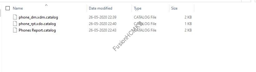 archive catalog files - Migration of Objects - BI Reports