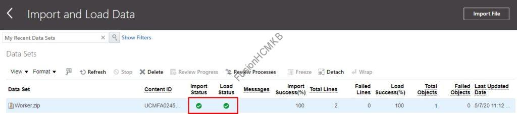 data load successfull 1024x226 - Resolving Assignment Name and Job Name not in sync issue