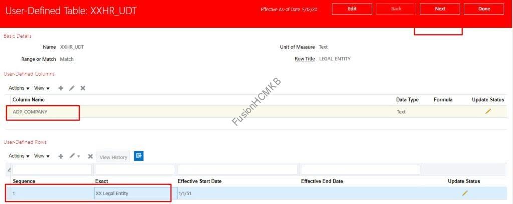 user defined table creation 4 1024x408 - Introduction to User Defined Table (UDT) in Fusion HCM