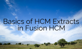 Basics of HCM Extracts in Fusion HCM