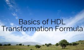 Basics of HDL Transformation Formula – Part 1