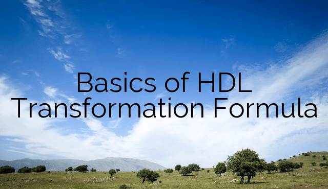 Basics of HDL Transformation Formula – Part 1