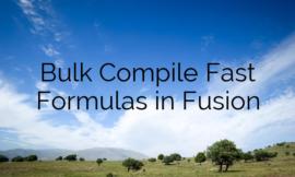 Bulk Compile Fast Formulas in Fusion