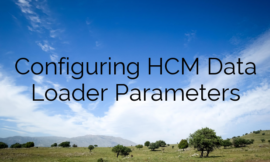 Configuring HCM Data Loader Parameters