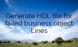 Generate HDL file for failed business object Lines