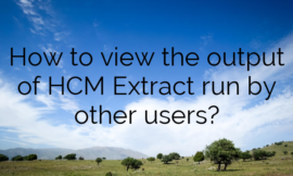 How to view the output of HCM Extract run by other users?