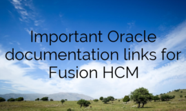 Important Oracle documentation links for Fusion HCM