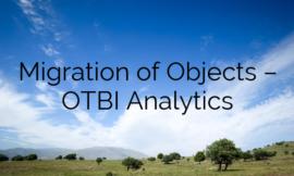 Migration of Objects – OTBI Analytics
