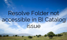 Resolve Folder not accessible in BI Catalog issue