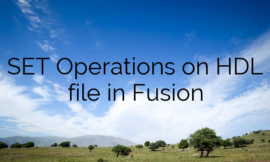 SET Operations on HDL file in Fusion