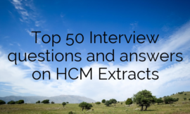 Top 50 Interview questions and answers on HCM Extracts