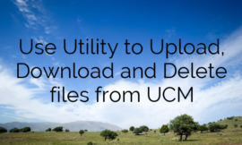 Use Utility to Upload, Download and Delete files from UCM