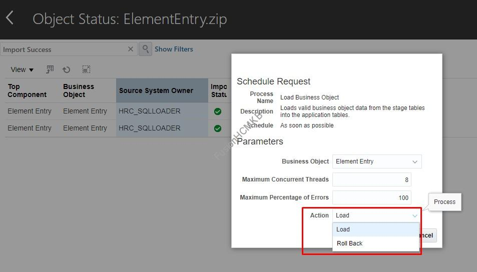 rollbal element entry - How to ROLLBACK Element Entry HDL Load?