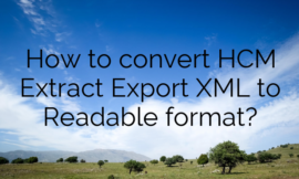 How to convert HCM Extract Export XML to Readable format?