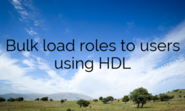 Bulk load Roles to Users using HDL