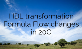 HDL transformation Formula Flow changes in 20C