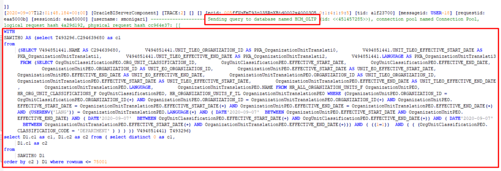 image 8 1024x350 - Troubleshoot OTBI by identifying Physical SQL Query behind it