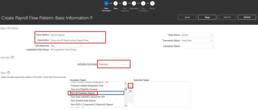 image 23 1024x440 - Run BI Publisher Report from Custom Payroll Flow Pattern