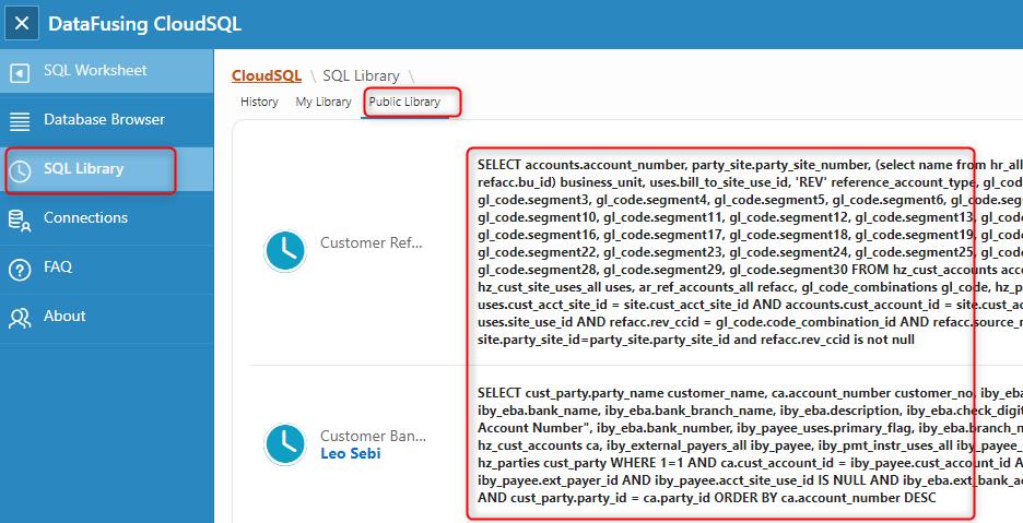 image 18 - DataFusing FREE Cloud based SQL Developer like tool for Oracle Cloud
