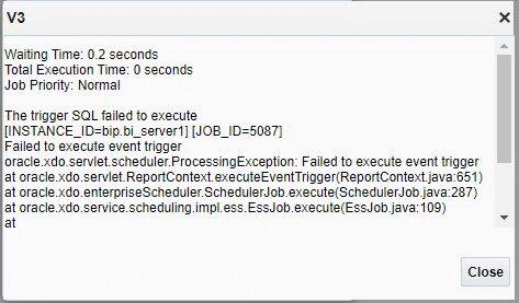 image 20 - Skip Schedule using Schedule Triggers in BI Publisher