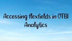 Accessing flexfields in OTBI Analytics
