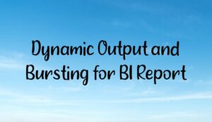 Read more about the article Dynamic Output and Bursting for BI Report