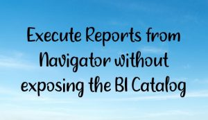 Read more about the article Execute Reports from Navigator without exposing the BI Catalog