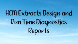 Read more about the article HCM Extracts Design and Run Time Diagnostics Reports
