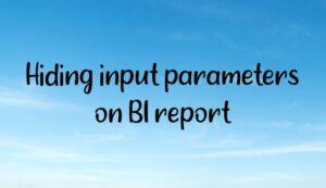 Hiding input parameters on BI report