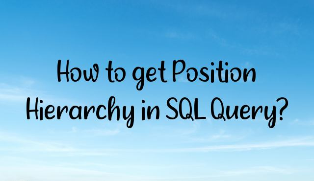 You are currently viewing How to get Position Hierarchy in SQL Query?