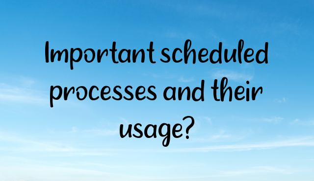 Important scheduled processes and their usage?