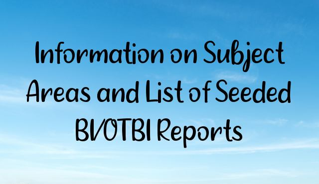 Information on Subject Areas and List of Seeded BI/OTBI Reports
