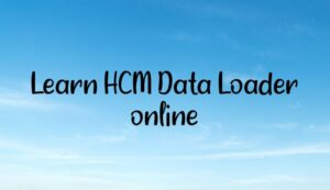 Learn HCM Data Loader online