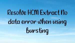 Resolve HCM Extract No data error when using bursting