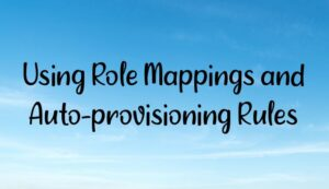 Using Role Mappings and Auto-provisioning Rules