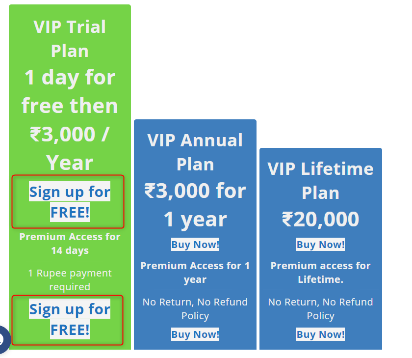 image 2 - Subscribe to VIP Plans