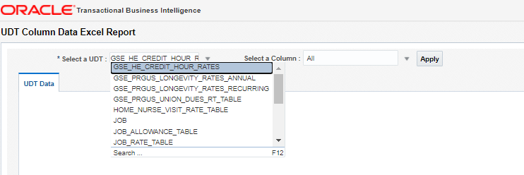 image 40 - User-Defined Table Excel and HDL Exporter Tool