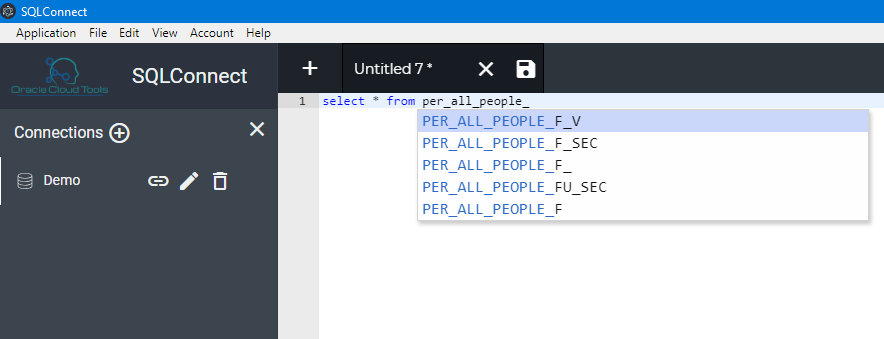image 12 - SQL Connect: A Robust alternative to TOAD and SQL Developer for Oracle Cloud
