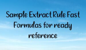 Read more about the article Sample Extract Rule Fast Formulas for ready reference