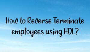 Read more about the article How to Reverse Terminate employees using HDL?