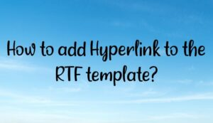 Read more about the article How to add Hyperlink to the RTF template?