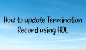 Read more about the article How to update Termination Record using HDL?