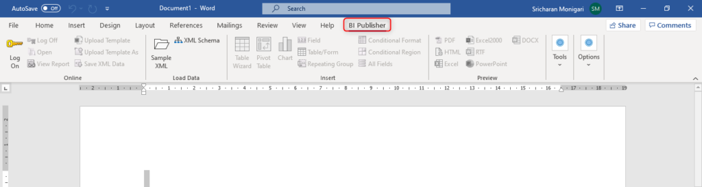 image 17 1024x274 - How to Download and install BI Publisher Plugin for MS Word and Excel?