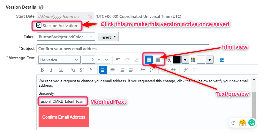 image 3 - How to modify Candidate facing Notifications in Oracle Recruiting Cloud?