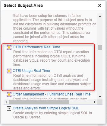 image 37 - How to view the OTBI Usage and Performance Metrics?